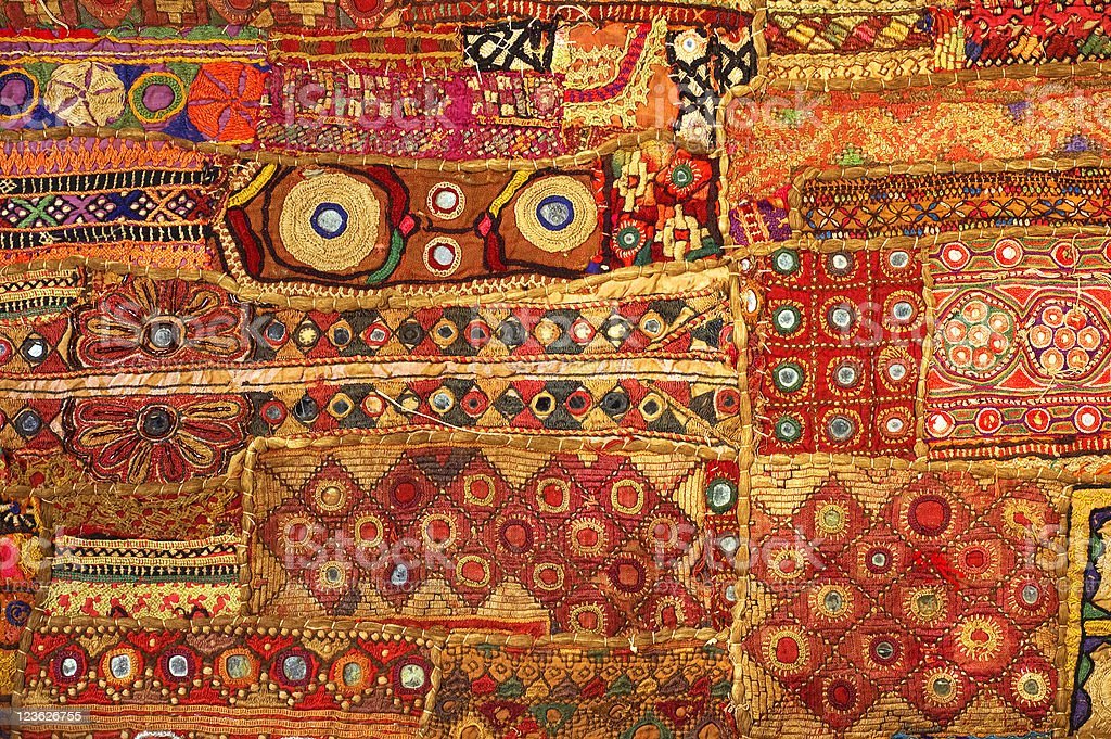 Indian Patchwork stock photo
