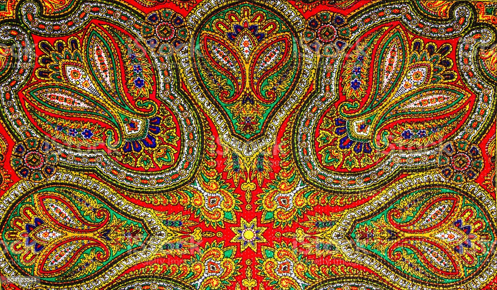 Indian pattern fabric stock photo