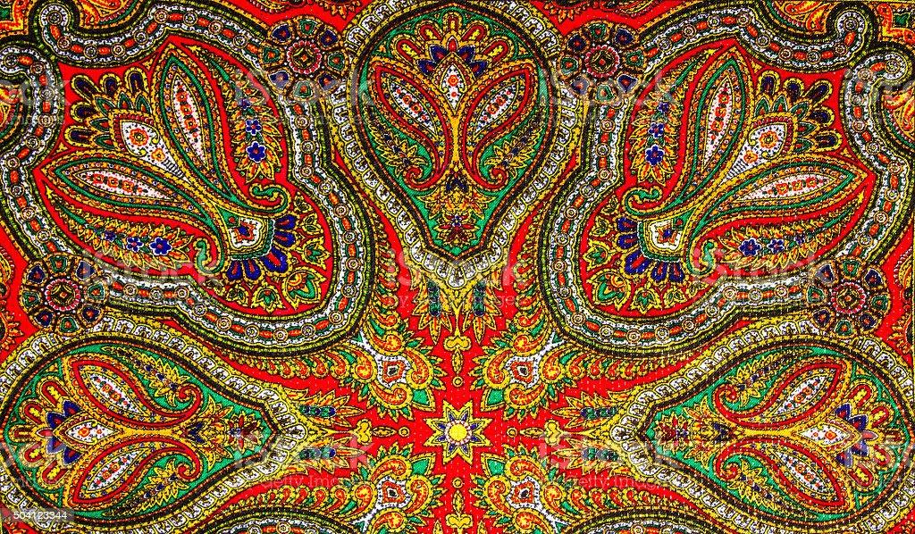 Indian pattern fabric stock photo