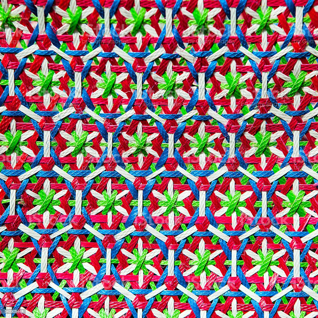 Indian pattern on fabric stock photo