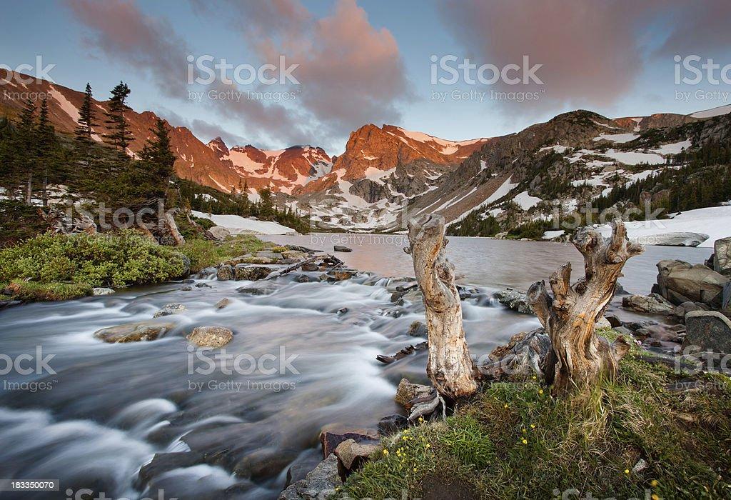 Indian Peaks Wilderness Lake Isabelle Sunrise royalty-free stock photo