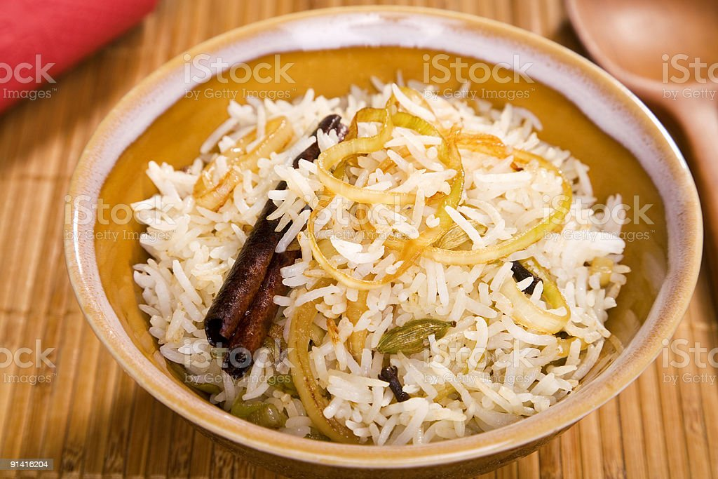Indian Pilau Rice royalty-free stock photo