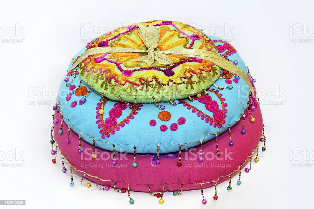 Indian pillows royalty-free stock photo