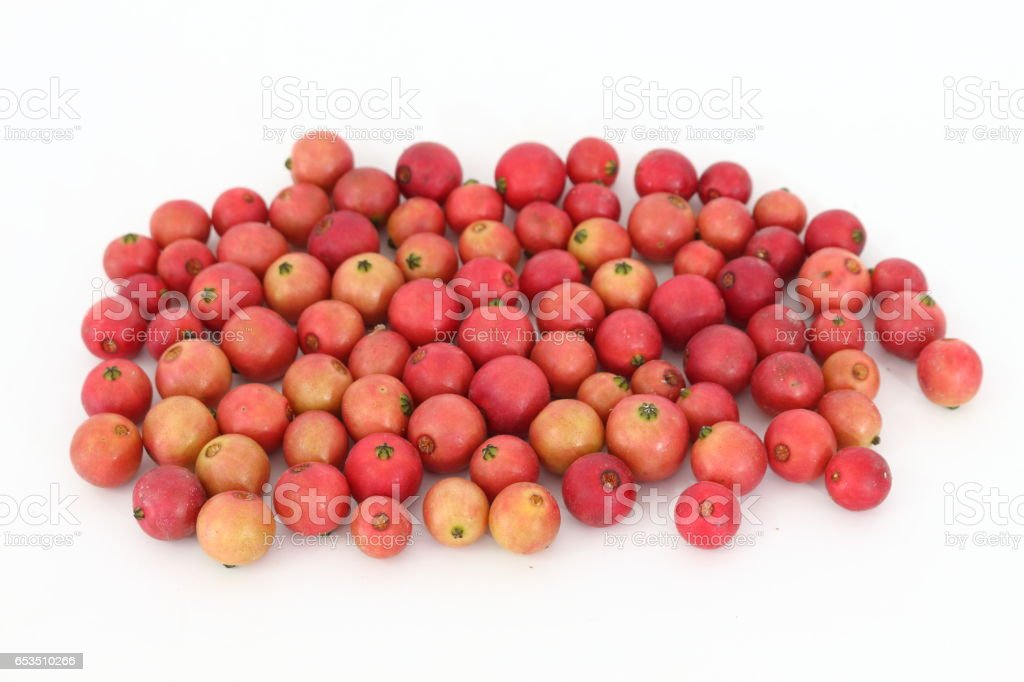 Indian plum On a white background in thailand stock photo