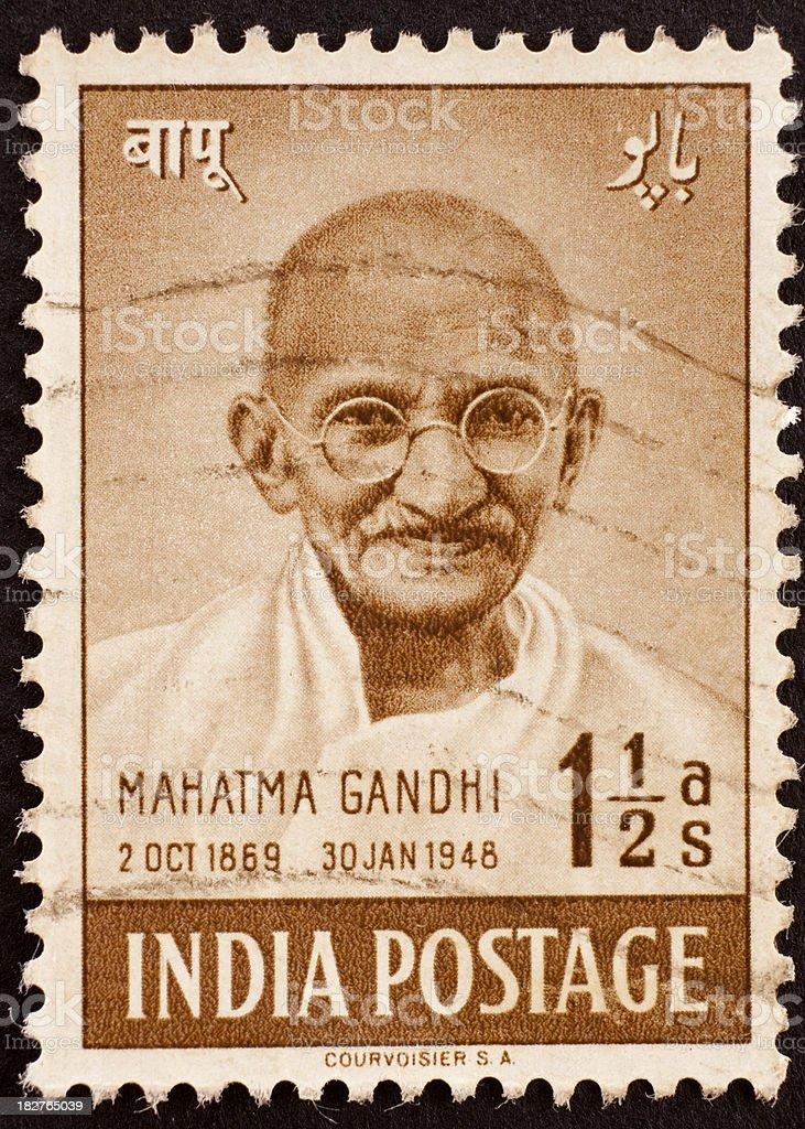 Indian postage stamp of Gandhi stock photo