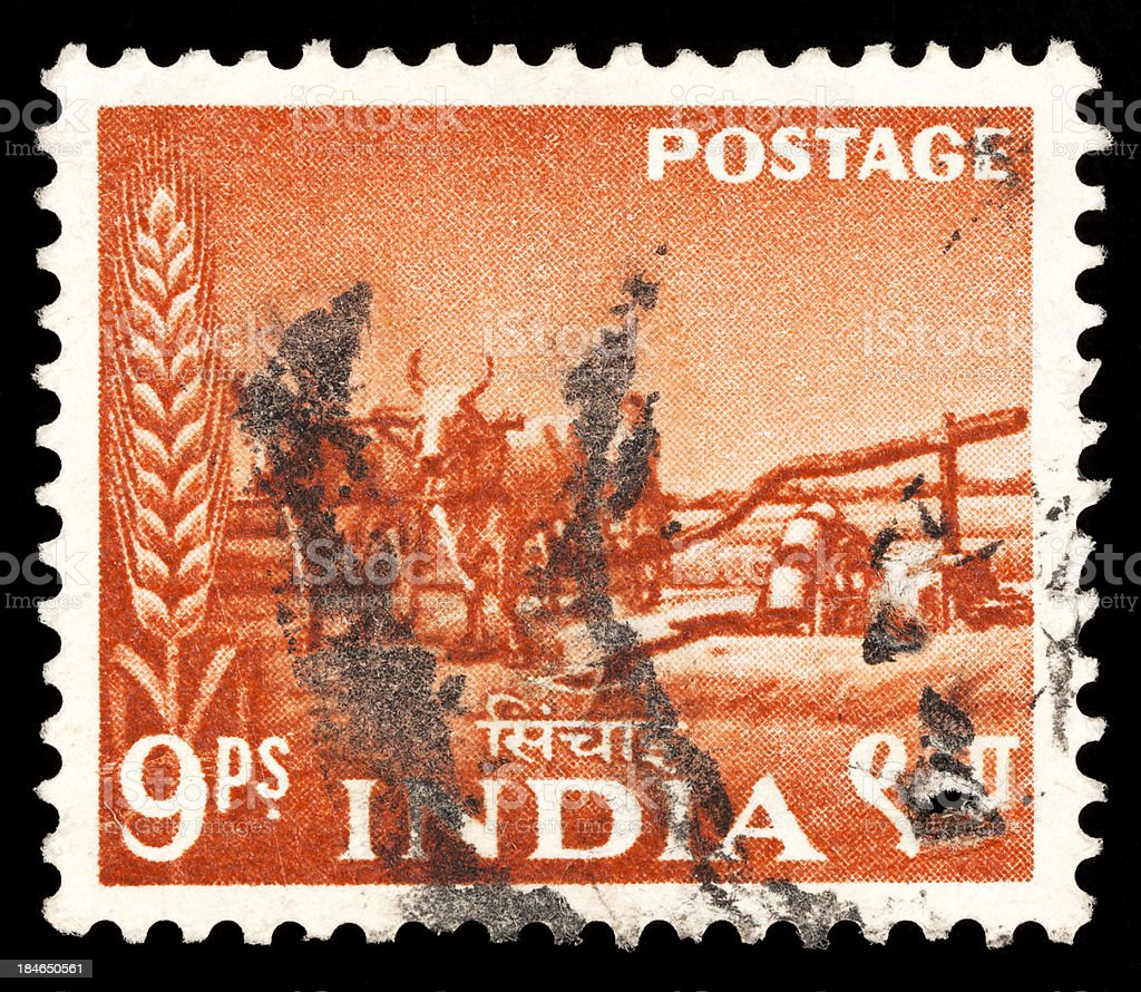 indian postage stamps stock photo