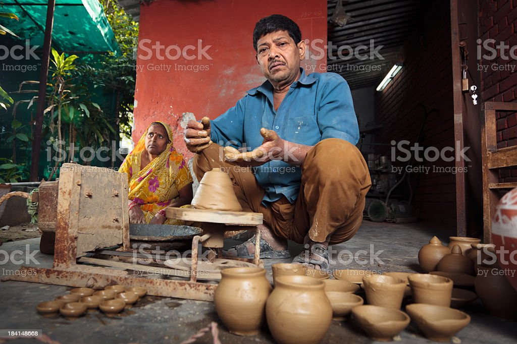 indian potter royalty-free stock photo