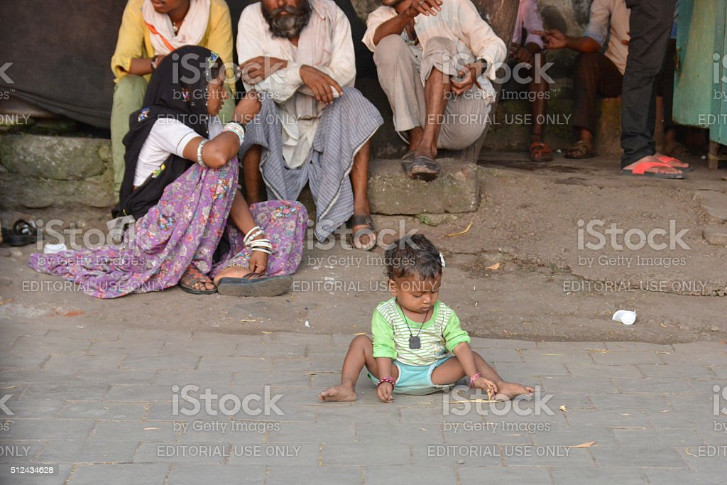 Indian poverty stock photo