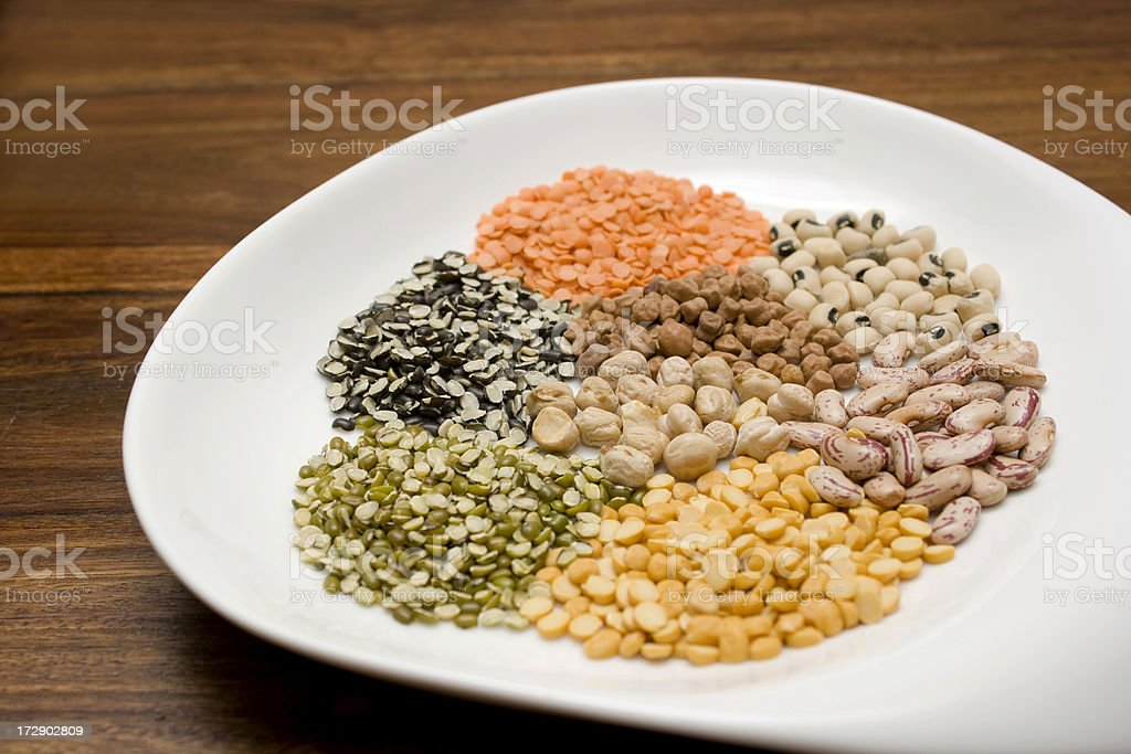 Indian Pulses/Lentils royalty-free stock photo