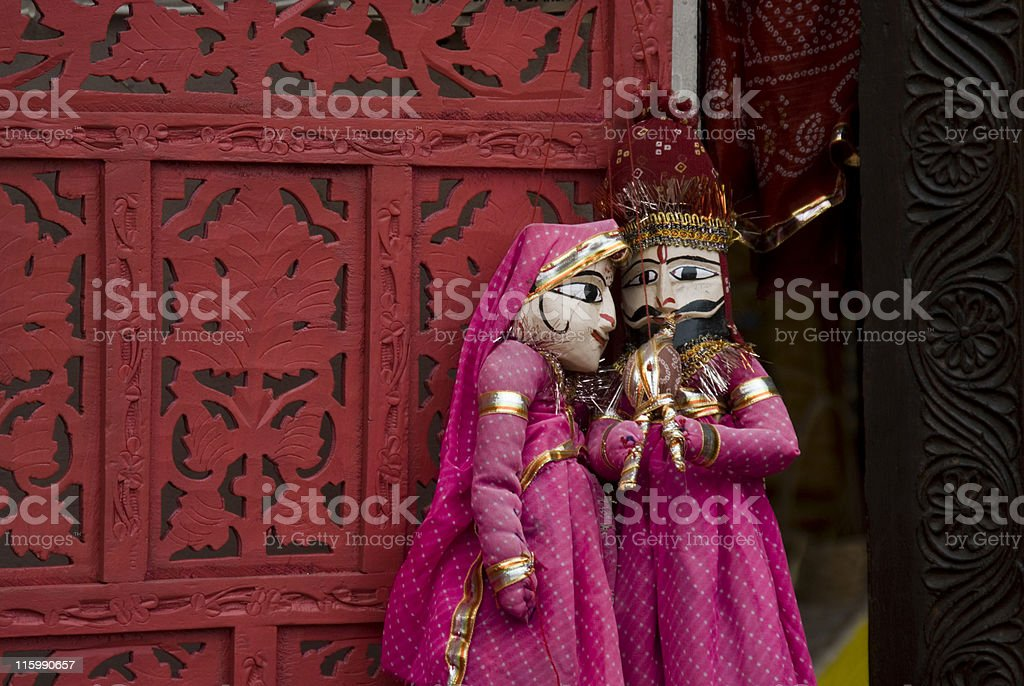 Indian puppets stock photo