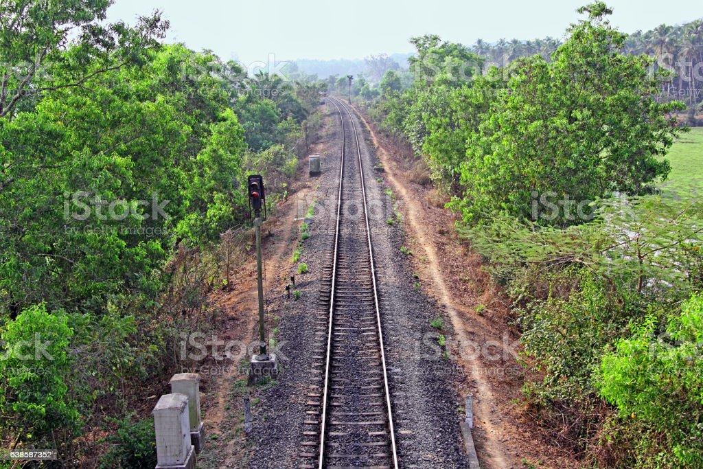Indian Railway Track stock photo