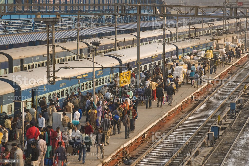 Indian Railways stock photo