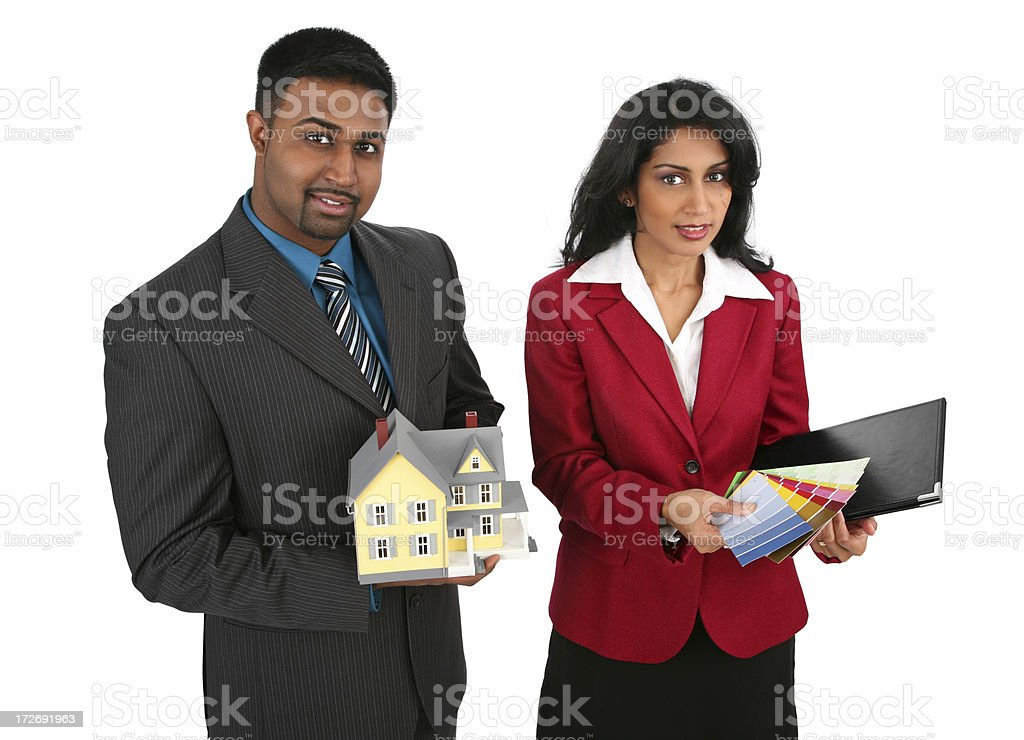 Indian Real-Estate Team royalty-free stock photo