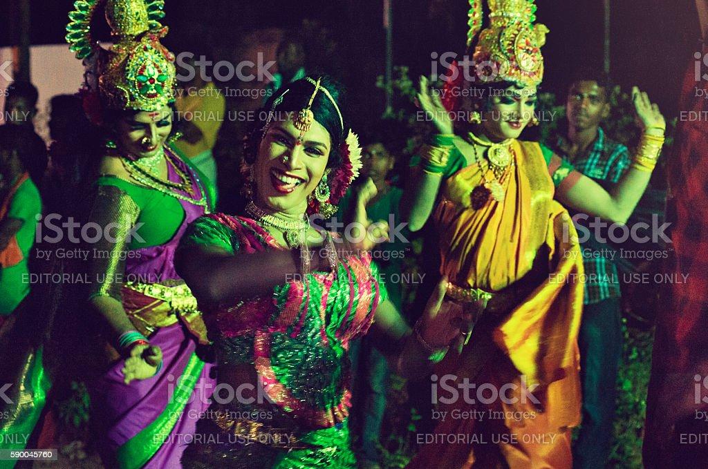 Indian religious festival. stock photo