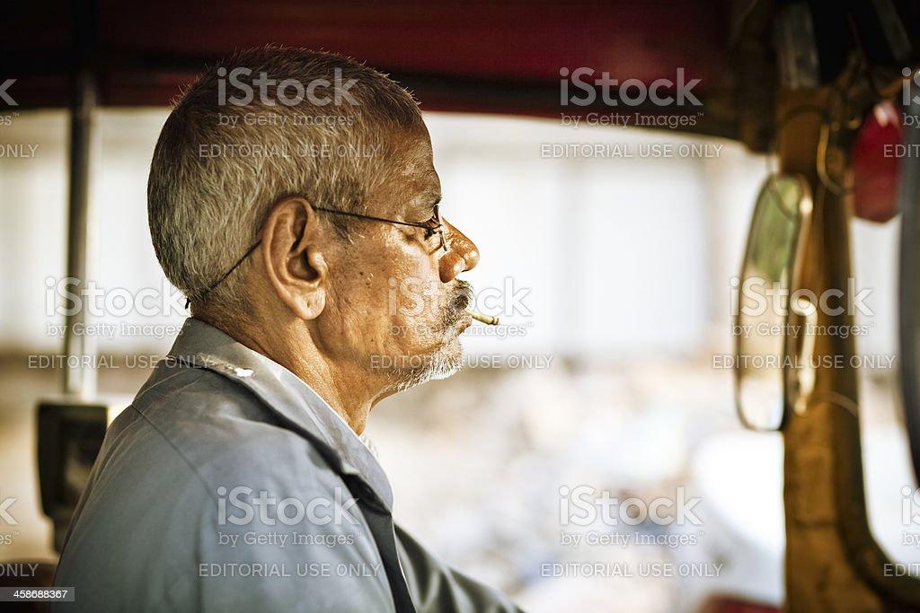 Indian Rickshaw Driver royalty-free stock photo
