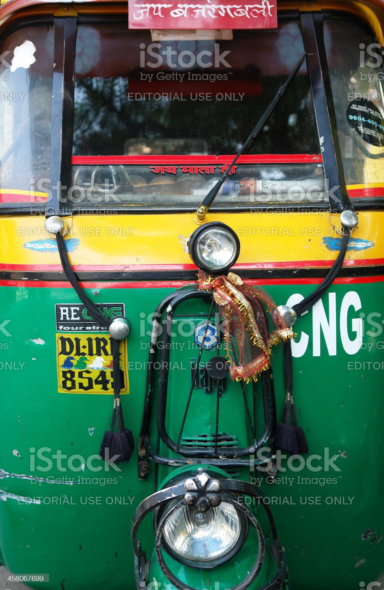 Indian Rickshaw Vehicle royalty-free stock photo