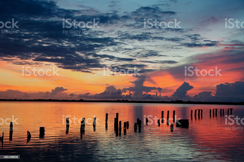 Indian River at Sunrise stock photo