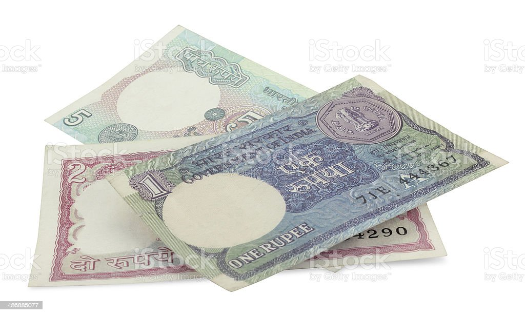 Indian Rupee Bank Notes royalty-free stock photo