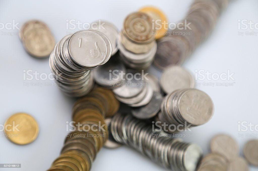 Indian rupee , coins stock photo