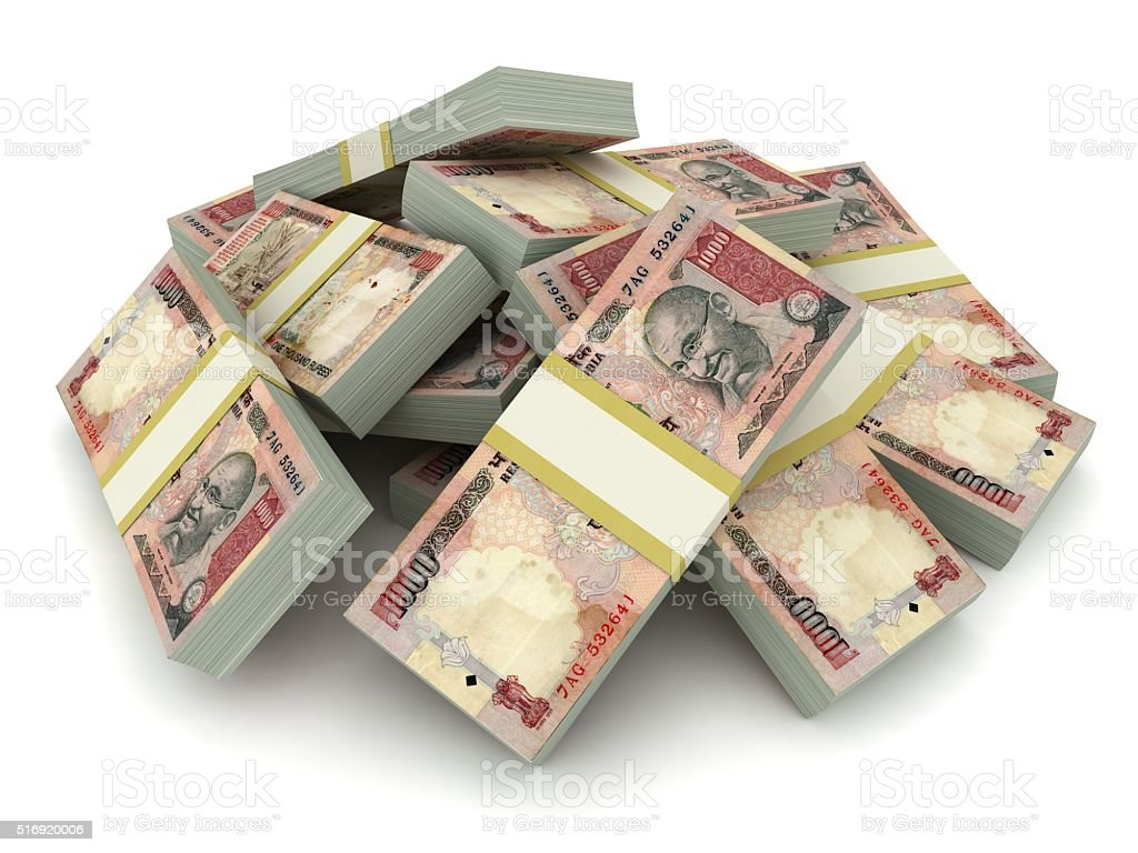 Indian rupee concept stock photo