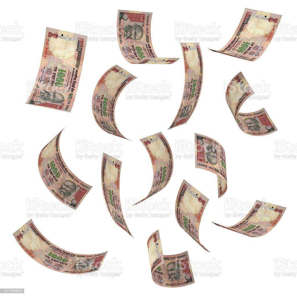 Indian rupee concept stock photo
