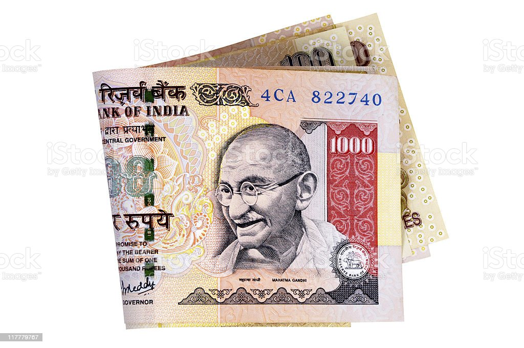 Indian Rupee currency bills royalty-free stock photo