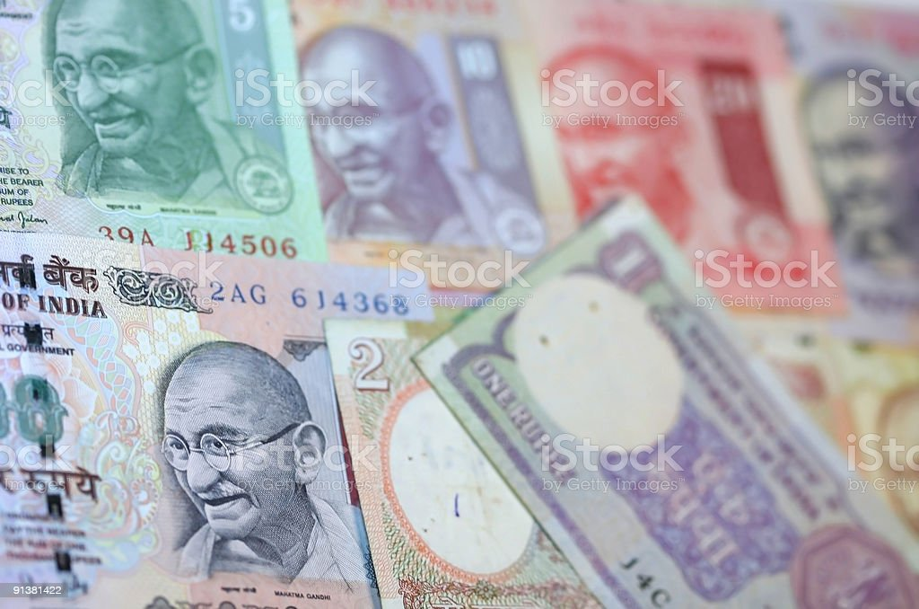 Indian Rupee Notes royalty-free stock photo