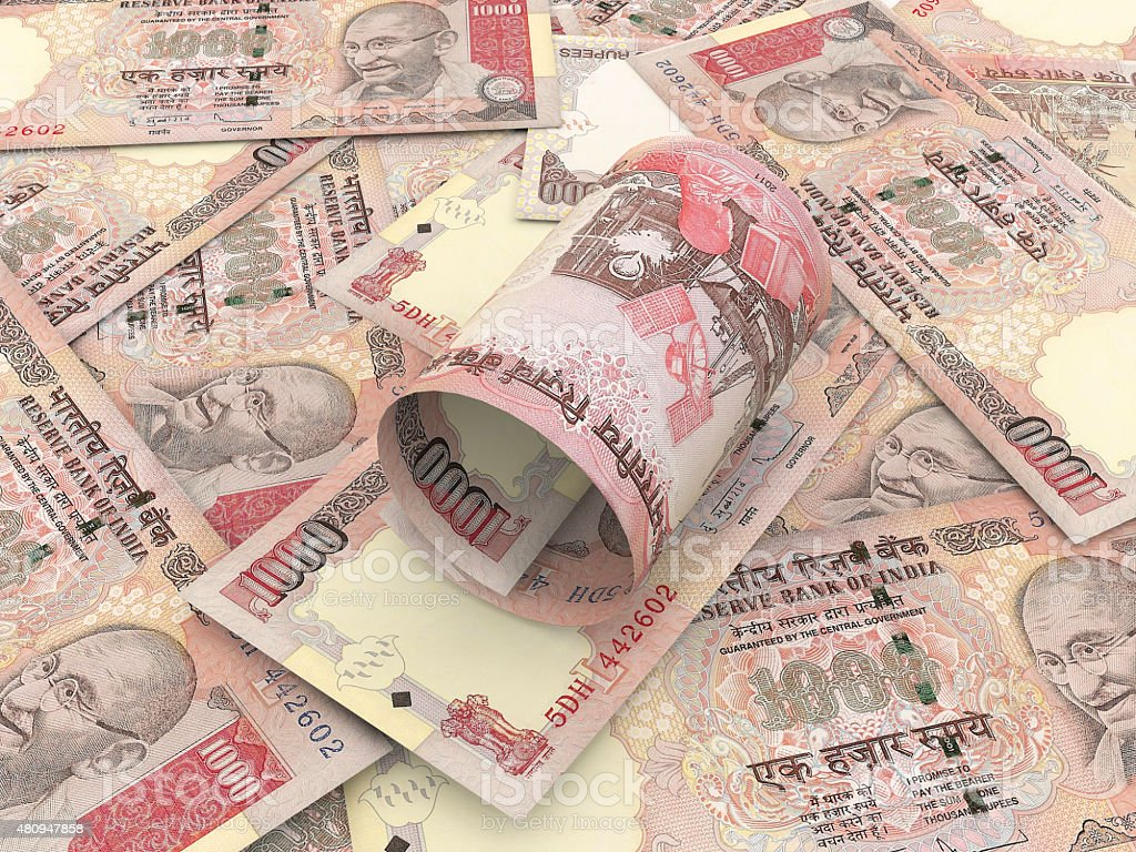 Indian Rupee stock photo