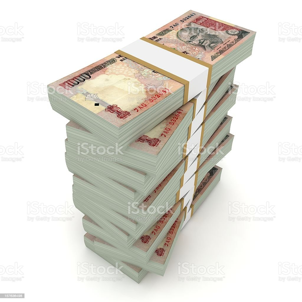 Indian Rupee Pile royalty-free stock photo