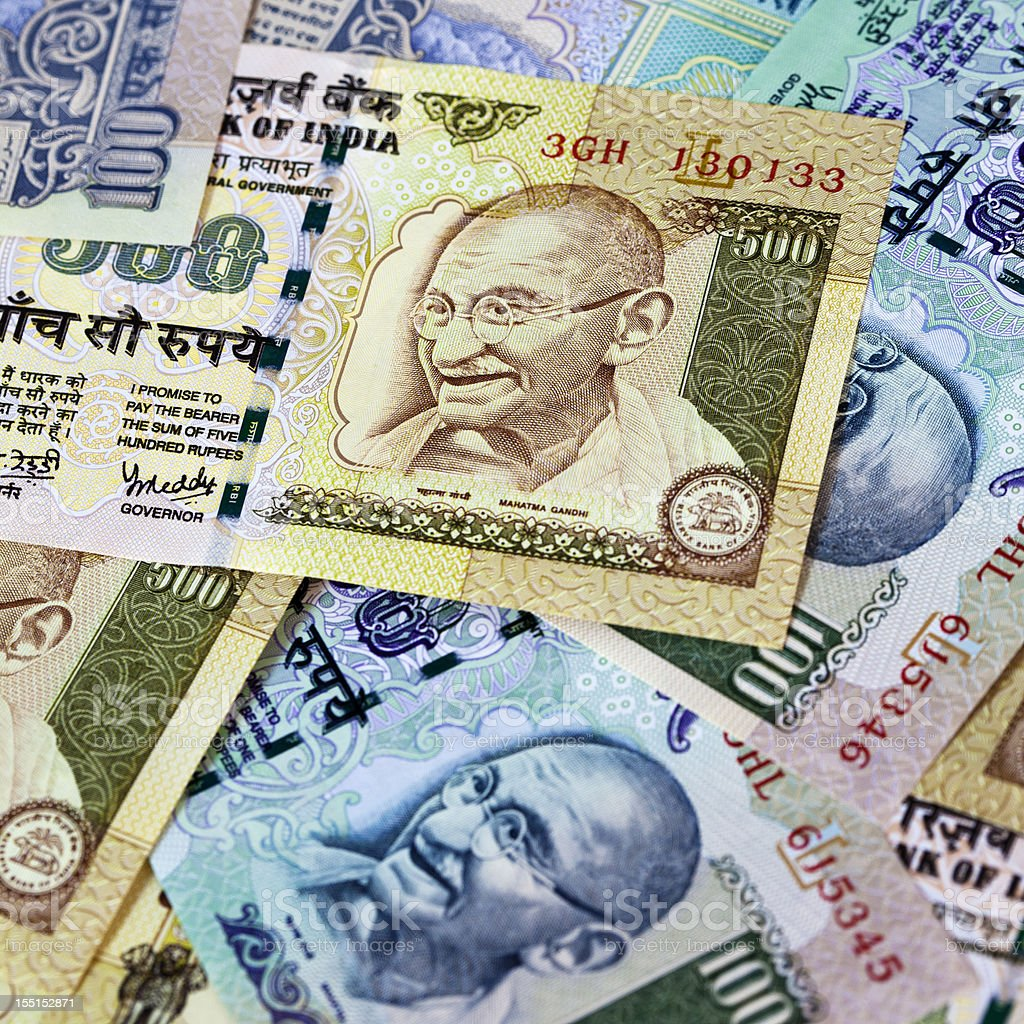 Indian Rupees stock photo