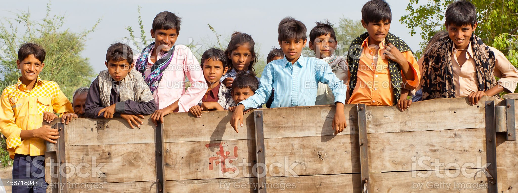 Indian Rural Children royalty-free stock photo