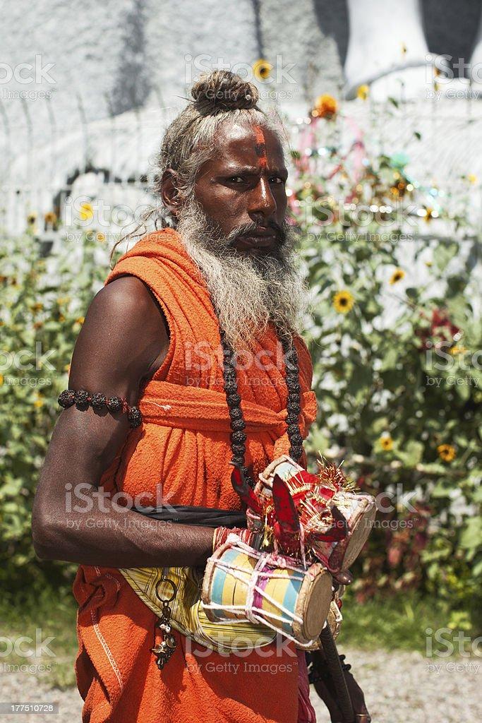 Indian sadhu stock photo