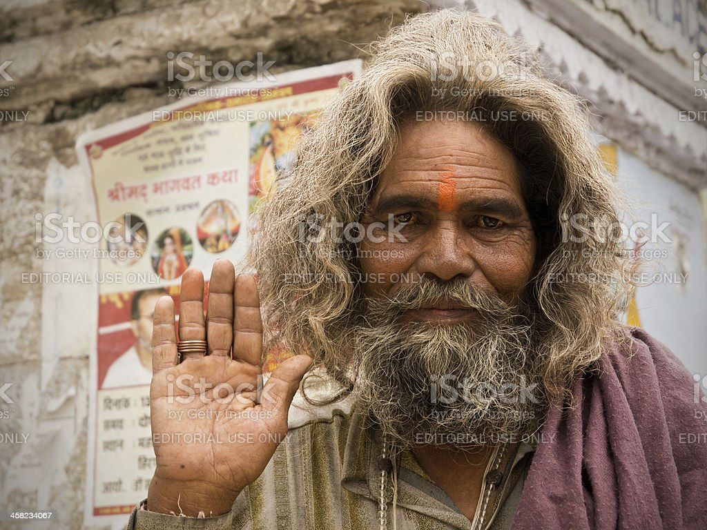 Indian Sadhu royalty-free stock photo