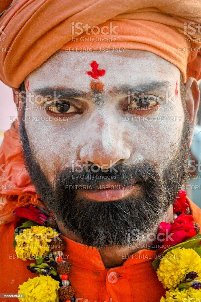 Indian Sadhu stock photo