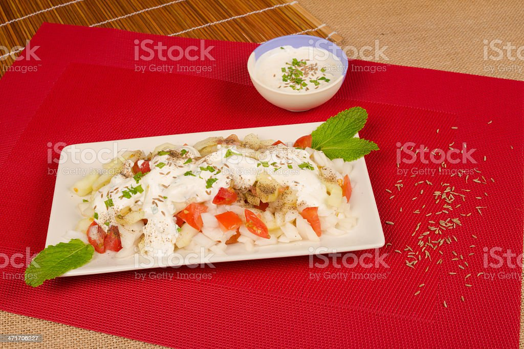 Indian salad royalty-free stock photo
