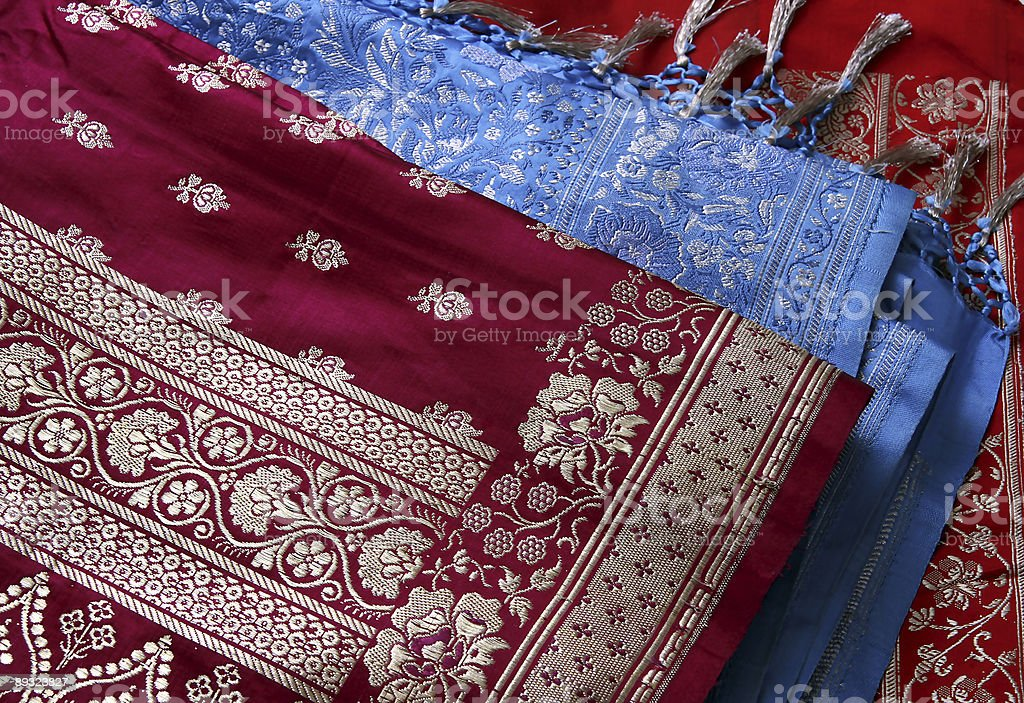 Indian Saree's royalty-free stock photo