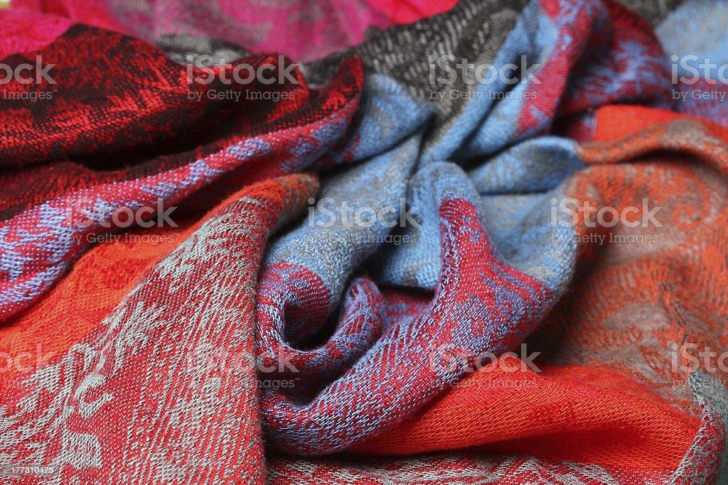 Indian Sari - fabric royalty-free stock photo