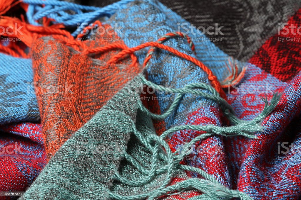 Indian Sari - fabric royalty-free stock photo
