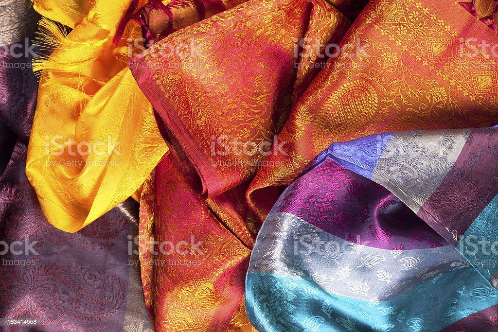 indian sari stock photo