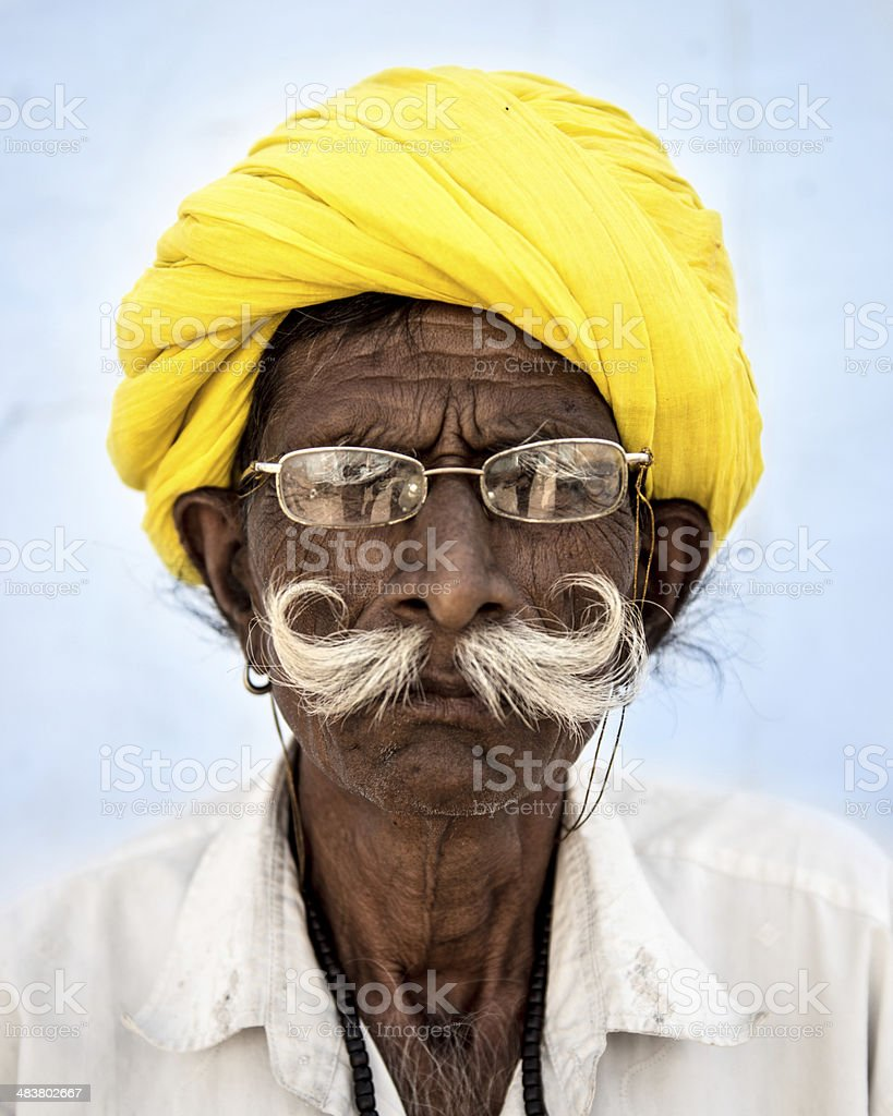 Indian Senior Man stock photo