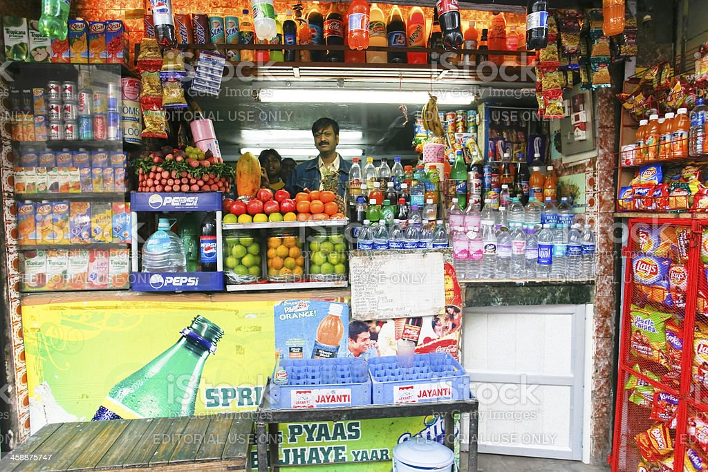 Indian shop stall royalty-free stock photo