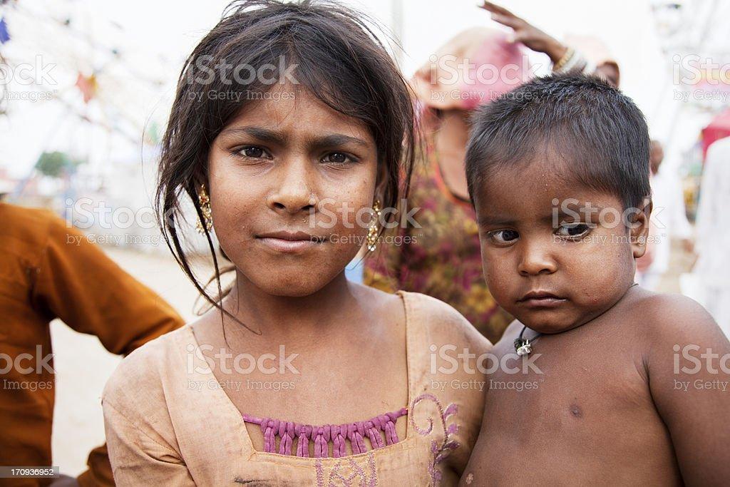 indian siblings stock photo