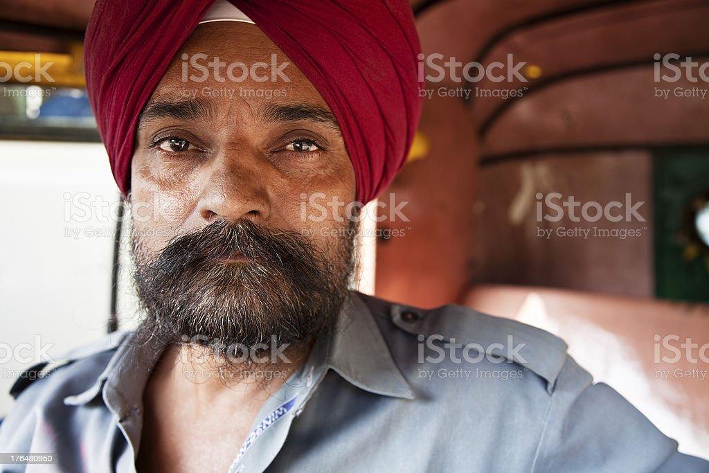 indian sikh man portrait stock photo