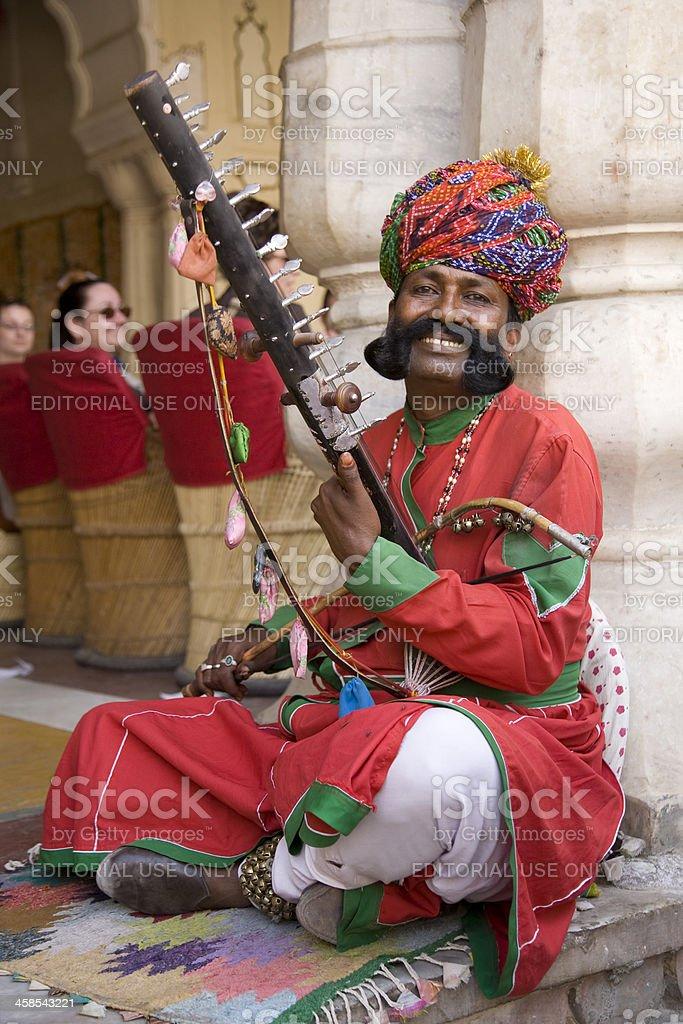 Indian Sitar player stock photo