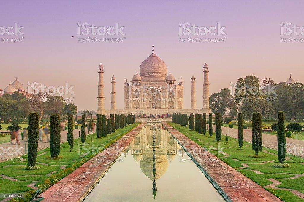 Indian sky, Taj Mahal stock photo