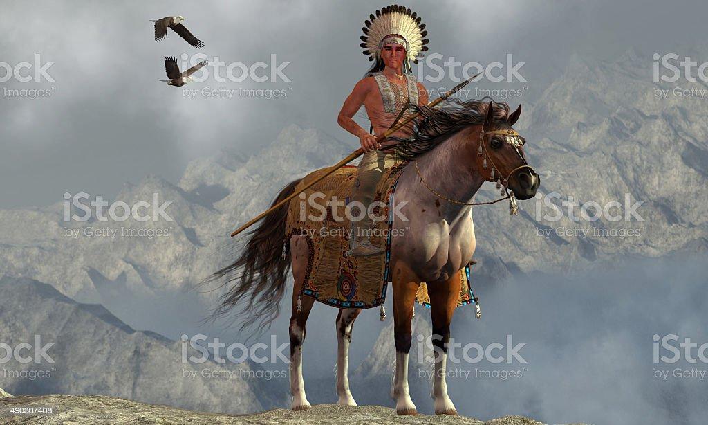 Indian Soaring Eagle stock photo