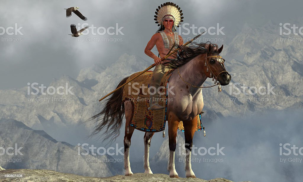 Indian Soaring Eagle stock photo