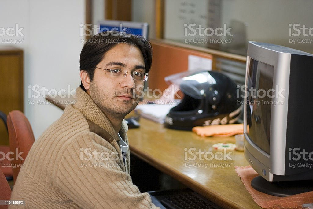 Indian software engineer professional Office Worker Computer Adult People Horizontal royalty-free stock photo