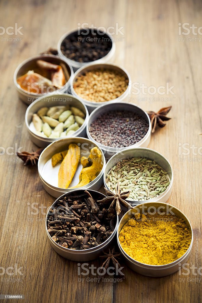 Indian spice mix royalty-free stock photo