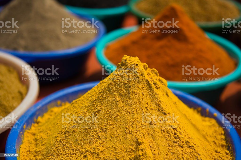 Indian spice shop royalty-free stock photo